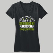 Ladies Short Sleeve V Neck
