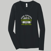 Ladies Long Sleeve V Neck